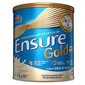 Sữa Bột Abbott Ensure Gold Hương Vani Ít Ngọt 400g