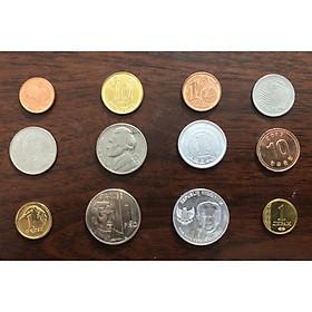 Combo bộ 12 đồng xu của 12 quốc gia khác nhau, phong thủy sưu tầm