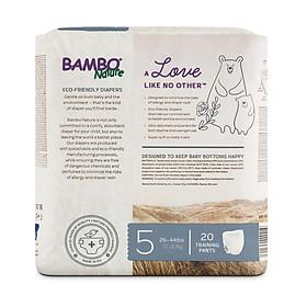 Combo 3 gói Tã Quần Em Bé Hữu Cơ Bambo Nature - gốc Đan Mạch - 12-20kg - XL20 - 20 miếng-2