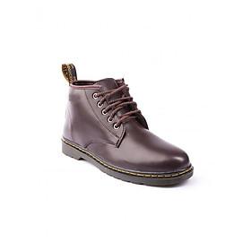 Giày boot nam - Giày đốc cao cổ da trơn M354 nâu
