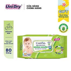 ̣(Quà tặng không bán) Khăn ướt Unifresh Baby Vitamin E 80 miếng