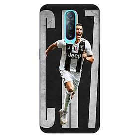 Ốp lưng nhựa cứng nhám dành cho Oppo RX17 Pro in hình Ronaldo