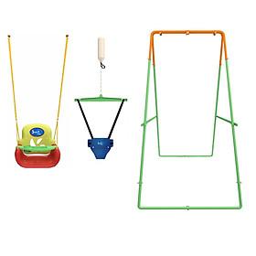 Combo Bộ Xích đu Nhún nhảy Tập đi Jumper Kids KG102 (có Khung giằng dưới) + Ghế Xích đu Đa năng tích hợp Bàn Ăn dặm (Chính hãng)