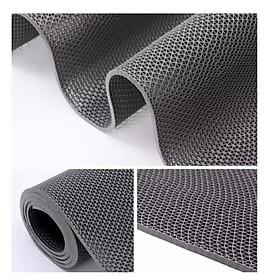 Thảm nhựa lưới chống trơn trượt màu xám cho nhà cửa, nhà tắm, văn phòng, hồ bơi, khách sạn  khổ rộng 1m2  bảo vệ sự an toàn cho gia đình