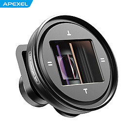 APEXEL APL-PRAN-V2 1.33X Smartphone Anamorphic Lens Phone External Camera Lens with CPL & Starlight Filters 17mm