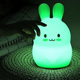 USB Charging Cartoon Silicone Pat Lamp for Bedside Table Lighting