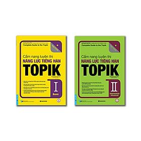 Bộ sách Cẩm nang luyện thi năng lực TOPIK Tập 1 + 2 có CD