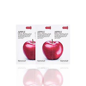 Combo 2 gói tẩy da chết sáng da sạch mụn Apple White Peeling Gel minisize