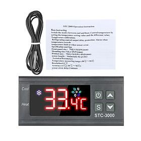 Bộ Điều Khiển Nhiệt Độ Máy Vi Tính STC-3000 Với Cảm Biến Nhiệt Đầu Dò NTC (110-220V)