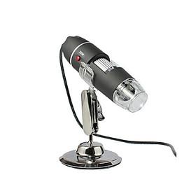 Kính hiển vi điện tử 500X cắm cổng USB kết nối điện thoại thông minh có đèn led trợ sáng ( Tặng quạt mini vỏ nhựa cắm cổng USB ngẫu nhiên )