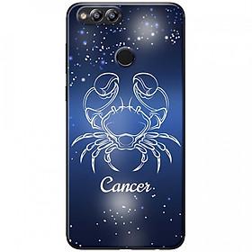 Ốp lưng  dành cho Honor 7X mẫu Cung hoàng đạo Cancer (xanh)