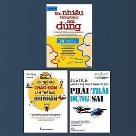 Combo 3 Cuốn :Phải Trái Đúng Sai + Nói Nhiều Không Bằng Nói Đúng + Nói Thế Nào Để Được Chào Đón, Làm Thế Nào Để Được Ghi Nhận ( Những Cuốn Sách Giúp Bạn Luôn Làm Chủ Trong Mọi Cuộc Giao Tiếp )