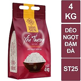 Gạo thơm thượng hạng - Nàng Sen Yêu Thương 4kg - gạo ST25 ngon nhất thế giới 2019