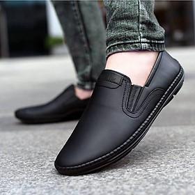 Giày lười da nam đẹp da bò thật chính hãng UDANY GLN06 - Giày mọi nam đẹp xu hướng thời trang đơn giản trang nhã lịch sự tiện lợi