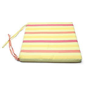 Nệm ngồi 40035 Yellow Red Stripe Square Seat Pad 40x40x3.5cm (Vàng)