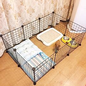 Lưới lắp ghép chuồng quây thú cưng có cửa