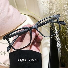 Kính Giả Cận,  Gọng Kính Cận Nam Nữ Mắt Vông To Gọng Đen Nhám Thiết Kế Không Độ Hàn Quốc - BLUE LIGHT SHOP