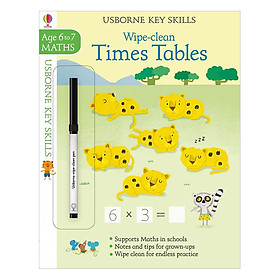 Usborne Usborne Key Skills Wipe-clean Times Tables 6-7