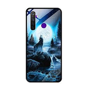 Ốp Lưng Kính Cường Lực cho Điện thoại Realme 5 Pro - 0485 Wolf04 - Hàng Chính Hãng