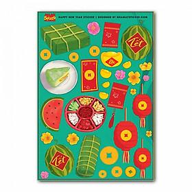 Hình ảnh Sticker decal hình dán trang trí tết - Hương Vị Tết