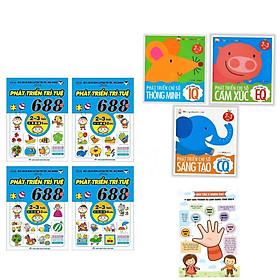 Combo 7 cuốn sách phát triển trí tuệ dành cho trẻ 2-3 tuổi : Phát Triển Chỉ Số Thông Minh IQ EQ CQ 2-3 Tuổi (3Q)+  688 Câu Đố Phát Triển Trí Tuệ 2-3 Tuổi (4Q) + Poster An Toàn Cho Con Yêu