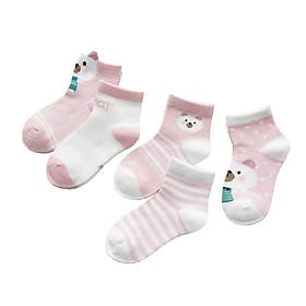 Combo 5 đôi tất lưới hình thú cho bé 1- 5 tuổi (Giao màu ngẫu nhiên)