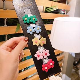 Set 10 dây cột tóc bông hoa cho bé gái