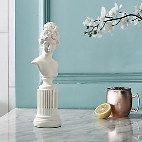 Tượng Hy Lạp nữ thần Venus Trắng/Đen 37cm