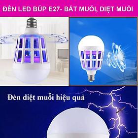Chống Muỗi Bóng Đèn Đuổi Bọ Zapper Diệt Côn Trùng Đêm Đèn 2 Trong 1 Bóng Đèn E27 LED Muỗi sát thủ AC 175 V-220 V.