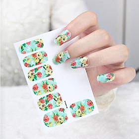Bộ sticker dán trang trí móng tay nhiều kiểu xinh xắn