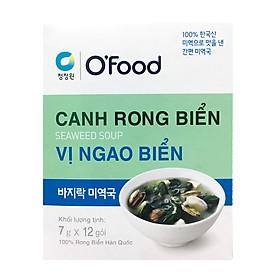 Hộp 12 Gói Canh Rong Biển Vị Ngao Biển O'Food (7Gram/ Gói)
