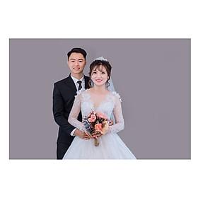 Chụp 2 hình cổng phong cách Hàn Quốc – ảnh cưới ép gỗ lụa 60×90 Laminate tại phim trường Tini + 10 ảnh 13x18