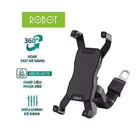 [[ Điện thoại 4 - 6.5 in ]] - Giá kẹp đỡ điện thoại có xe máy - xe tay ga Robot - Cho iOS (iPhone), Android (Samsung, Xiaomi, Huawei) - Đen - RT-MH02 - Hàng Chính Hãng