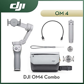 Kèm túi đeo hãng - Gimbal DJI OM4 COMBO, Tay cầm chống rung dành cho điện thoại DJI Osmo Mobile 3 - Hàng nhập khẩu