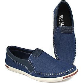 Giày lười vải khâu siêu bền thời trang nam ZARIS ZR4520