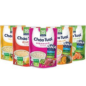 Lốc 5 - Cháo Tươi Baby Sài Gòn Food 240g, Gà, Thịt Bằm, Bò, Tôm, Lươn