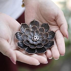 Đế cắm nhang vòng, đặt hương cây hình hoa sen lớn thắp hương để lư trầm phụ kiện thác khói