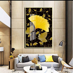 Tranh mica cao cấp Lá cây mùa thu nghệ thuật - MK044