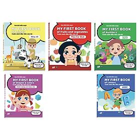 Combo cuốn sách đầu tiên cho bé chủ đề:Động vật + Rau củ quả + hình dạng màu sắc + ABC + 123(dành cho trẻ từ 2-7 tuổi)