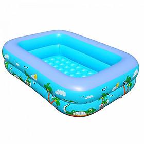 Bể bơi phao 2 tầng cho bé size 115x85x35cm - Mẫu mới (màu ngẫu nhiên) tặng kèm 1 móc khóa huýt sáo