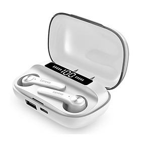 Tai nghe Lenovo BT có hộp sạc, tai nghe, nút tai không dây, điều khiển cảm ứng, loa hai tai, đèn LED âm thanh nổi