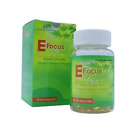 Bổ sung Vitamin Efocus Natural, Cung Cấp Vitamin E, Omega 369, Vitamin A, Vitamin D3, EPA, DHA Phù Hợp Cho Mọi Đối Tượng Phụ Nữ,Nam Giới, Bà Bầu, Người Già sản phẩm đạt chuẩn GMP – WHO.