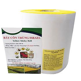 Bẫy Bọ Phấn Trắng gây hại dưa lưới đạt hiệu quả 90% và bẫy côn trùng khác bằng Cuộn Keo Dính Màu Vàng Israel (Combo 20 mét). Sticky Yellow Roll dùng trong ngành nông nghiệp sạch, hạn chế thuốc Bảo Vệ Thực Vật