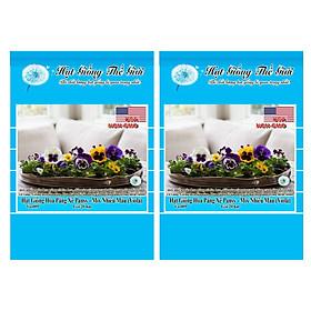 Bộ 2 Gói Hạt Giống Hoa Păng Xê Pansy - Mix Nhiều Màu (Viola) 20h