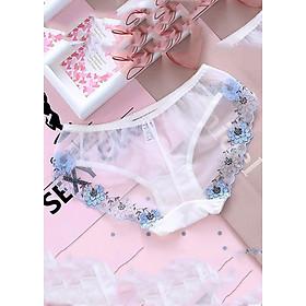 Combo 5 quần lót nữ ren sheer viền thêu hoa ngọt ngào gợi cảm Q44