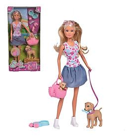 Đồ Chơi Trẻ Em Búp Bê Thú Cưng Dành Cho Bé STEFFI LOVE Puppy Walk 105733310 - Hàng Chính Hãng