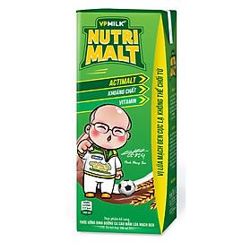 Thùng 48 hộp Thức uống dinh dưỡng ca cao mầm lúa mạch đen – VPMilk Nutrimalt (180ml / Hộp)