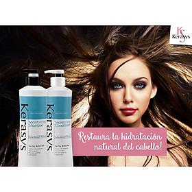 Bộ dầu gội/xả Kerasys Moisture cân bằng độ ẩm cho tóc xơ rồi Hàn Quốc (2x600ml) tặng kèm móc khoá-5