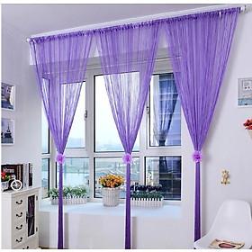 Mành, rèm cửa sợi dù đính kim tuyến 3x3m trang trí nhà cửa, làm vách ngăn phòng, spa, khách sạn Sanji S03