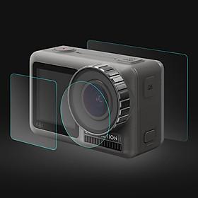 Kính cường lực màn hình sau, màn hình trước và Camera trước cho DJI OSMO ACTION Puluz - Hàng chính hãng